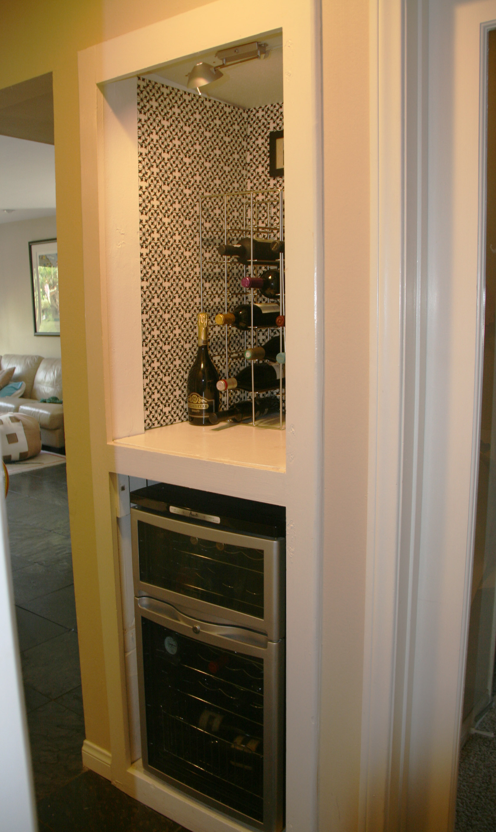 Wine Nook, Fabric Lined